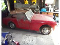 Austin Healy Sprite Mk2 1963 Complete For Restoration With V5, Genuine Barn Find!