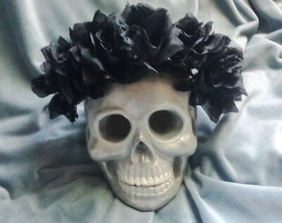 Black Flower Crown Goth Black Rose Flower Headband Halloween Costume - Halloween Headpiece
