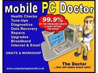 Call Out PC Doctor Computer Laptop iPhone iPad Repair Screen Replacement Kent and South East London