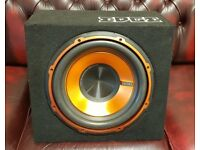 CAR SUBWOOFER EDGE 900 WATT 12 INCH BASS BOX WITH BUILD IN AMPLIFIER SUB WOOFER AMP