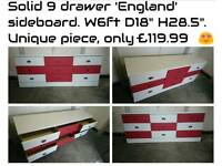 England chest of drawers sideboard