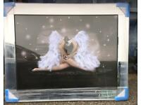 Superb liquid art mirror framed pictures angels