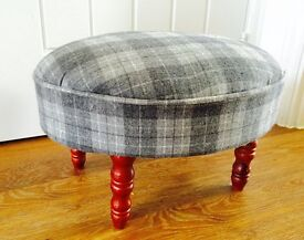 Tweed footstool- like new.