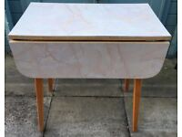 RETRO TABLE KITCHEN/DINING FORMICA TYPE TOP DROP LEAF SEE ALL 9 PHOTOS