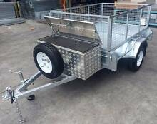 HeavyDuty Lockable AlloyTool Box + 7x5 HotDippedGal CageTrailer Coopers Plains Brisbane South West Preview
