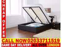 BRAND NEW DOUBLE LEATHER STORAGE BED Available with Mattress Richmond