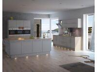 7 Piece Kitchen Units - Grey Matt Slab Door- BRAND NEW -18mm Rigid Built