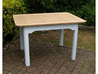Oak Rectangle Dining Table - Shabby Chic 1950s