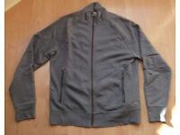 Mens OLD NAVY/GAP Dark Grey Sweatshirt Zipper Top Hoodie - Size Large
