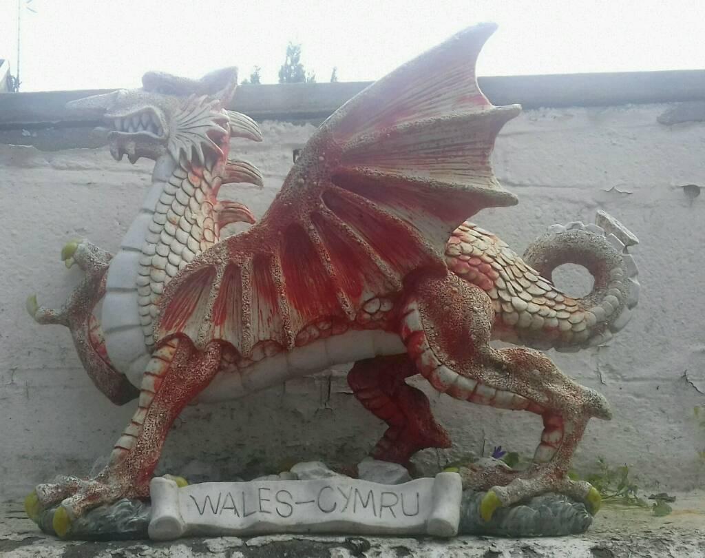 Welsh Dragon Garden Ornament In Pontypridd Rhondda