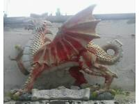 Welsh dragon garden ornament
