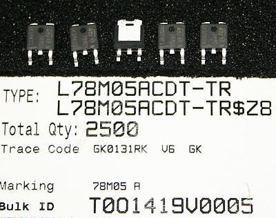 10 SMD Spannungsregler L78M05ACDT-TR ,L78M05  7805 RoHS LM7805 UA7805