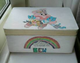 Handpainted large personalised keepsake boxes