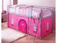 full size single mid sleeper cabin beds removable princess curtains