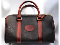 Mulberry Handbag Small Cognac Scotchgrain & Leather Trim