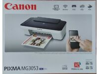 Canon PIXMA MG3053 3 in 1 Inkjet Printer - Blue/White - Boxed