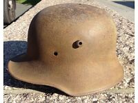 Rare Relic German M18 WW1 Helmet Recovered Ypres Salient Flanders