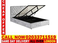 Brand New Double Crush Velvet Storage Bed Available With Mattress Get It Today Detroit