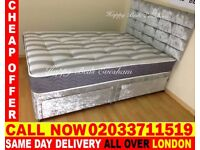 Brand New DOUBLE Crush Velvet Divan Bed Available With Mattress Order Now Ponte Vedra Beach