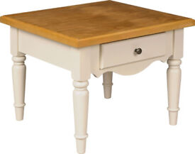 Brand New and Boxed Heart of House Elsanne End Side Table with Drawer - Solid Pine.