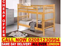 WOW SUPPER QUALITY Double Single WOODEN Bunk Base, That convert into two- /Bedding Alexandria