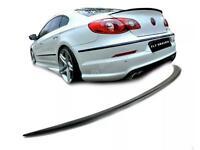VW Passat CC tuning Trunk Lip Spoiler Rear Tail Lid BLACK Body kit becquet flap