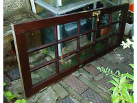 Solid wood door, full size with 15 glass panels