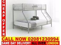 Amazing Offer single top double bottom trio sleeper metal bunk base (Base) Bedding Oakland Mills