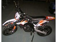 Zinc Electric Pit Motorbike Motor Cross Bike For Age 13+ Years - 45709