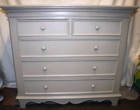 Triple Wardrobe and matching chest of drawers