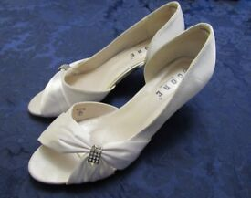 White Satin Wedding Shoes by CORE