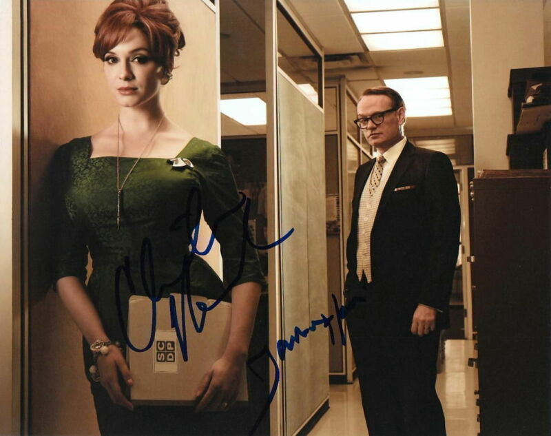 MAD MEN.. Jared Harris with Christina Hendricks - SIGNED