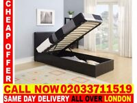 BRAND NEW SINGLE LEATHER STORAGE BED Available with Mattress Anoka