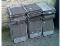 Used concrete roof tiles