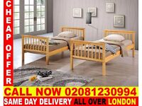 WOW SUPPER QUALITY Double Single WOODEN Bunk Base, That convert into two- /Bedding Thornton