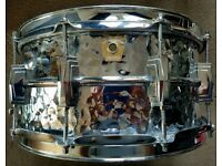 LUDWIG HAMMERED SUPRAPHONIC SNARE DRUM 14X6.5 MONROE BADGE