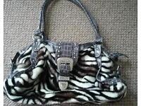 Zebra print bag