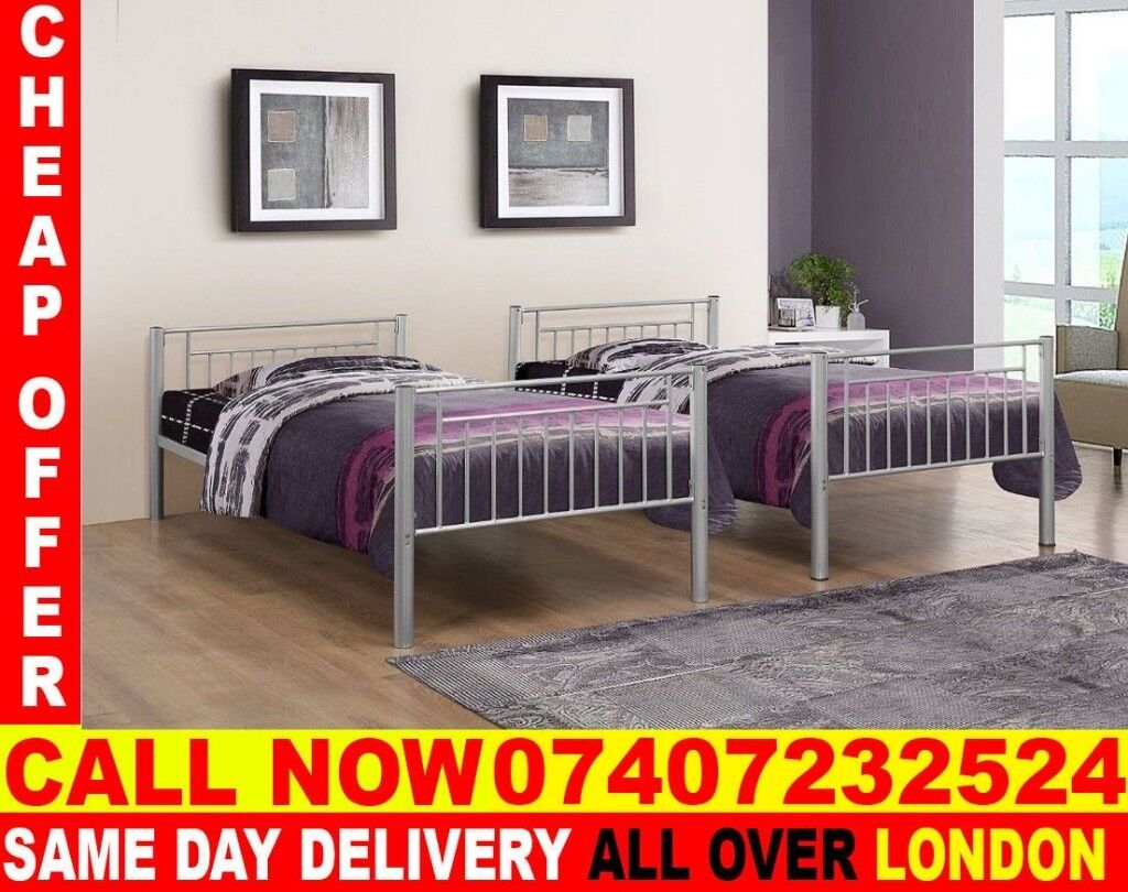 Best Quality Single Metal Bunk Bed Frame And Mattress Colton In