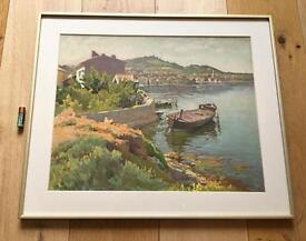 Vintage Giclee Colour Print Provence France Framed & Glazed