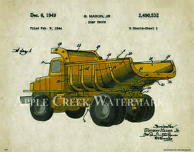 John Deere Tractor Patent Poster Art Print Vintage Toys Charles Freitag PAT327