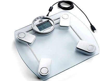 ADE AMELIE BA709 Glas Personenwaage Körperanalyse  wellness bad waage USB Slot L