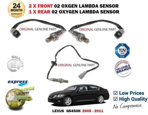 FOR LEXUS GS450H 2GR-FSE 2005-2011 2 FRONT + REAR 02 OXYGEN LAMBDA SENSOR SET