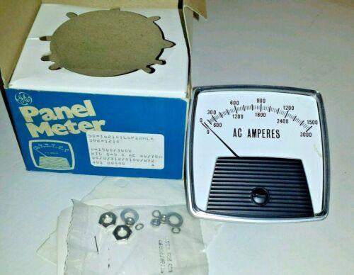 AC AMP METER 0-1500/3000  AMPS AMMETER TRANSFORMER-RATED 0-5 AMPERES 25-500 Hz