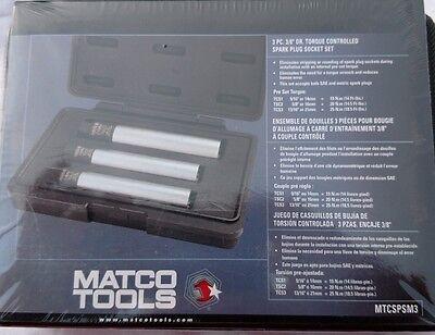 "MATCO TOOLS   3 pc    3/8"" Drive  Torque Controlled Spark Plug Socket Set"