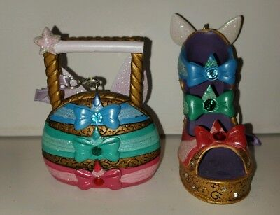 Disney Sleeping Beauty Godmothers Flora Fauna Merriweather Ornament Set