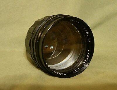 Sankyo Kohki Komura 85mm 1:1.4 Lens Exakta mount Film Photography camera
