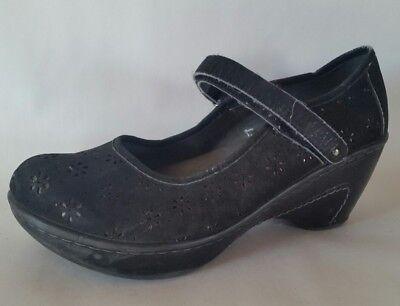 J-41 Sailor Womens Vegan Adventure On Black Wedge Shoes Heels Floral Size 8.5 M - Sailor Heels