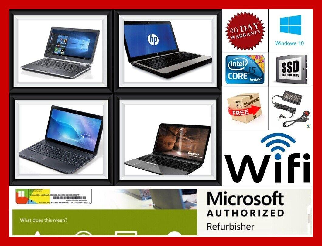 Laptop Windows - FAST CHEAP LAPTOP DELL HP TOSHIBA Core I3 i5 8GB RAM ITB WiFi Win10 WARRANTY