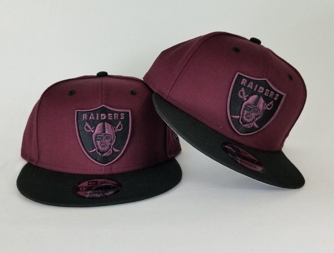 New Era Maroon Oakland Raiders Shield Logo 9Fifty Snapback Hat