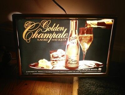 1979 Golden Champale Flavored Malt Liquor Lighted Bar Sign
